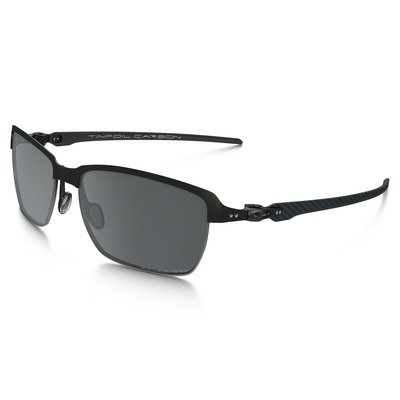 Oakley Tinfoil Carbon OO6018-02 5815 - Satin Black/Steel w/Black Iridium Polarized,OAKLEY