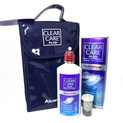 Kit Clear Care Plus com HydraGlyde 360ml,Alcon/Ciba Vision