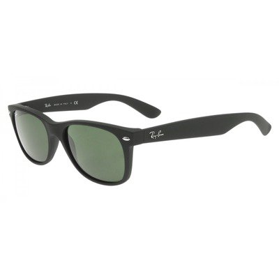 Ray-Ban RB2132LL 622 55 New Wayfarer - Black/Green G15,Ray-Ban