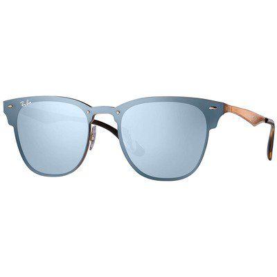 Ray-Ban Blaze Clubmaster RB3576N 90391U 41 - Bronze-Copper/Violet-Silver Mirror,Ray-Ban