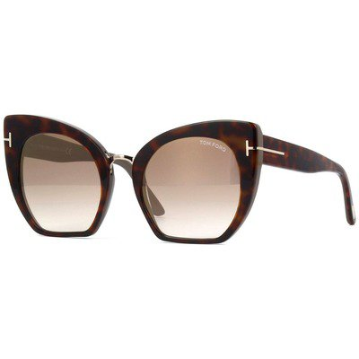 Tom Ford Samantha-02 FT0553 56G 55 - Havana/Brown Gradient-Gold Mirror,TOM FORD