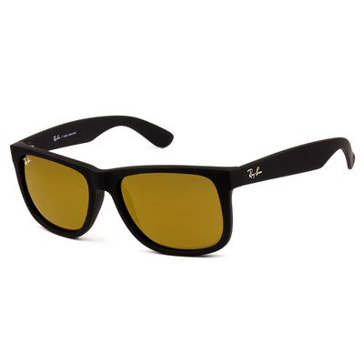 Ray-Ban RB4165L 622/7D 55 Justin - Matte Black/Gold Mirror,Ray-Ban