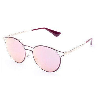 Prada Cinema PR62SS USH5L2 53 - Bordeaux Gold/Yellow Grey Rose Mirror,PRADA