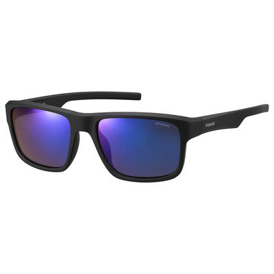 Polaroid PLD3018S DL5 JY 55 Contemporary - Matte Black/Blue Mirror Polarized,POLAROID
