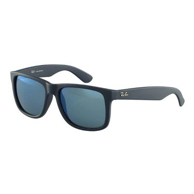 Ray-Ban RB4165L 620955 55 Justin - Matte Blue/Blue Flash,Ray-Ban