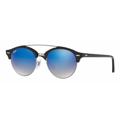 Ray-Ban RB4346 62507Q 51 Clubround - Black/Blue Flash,Ray-Ban