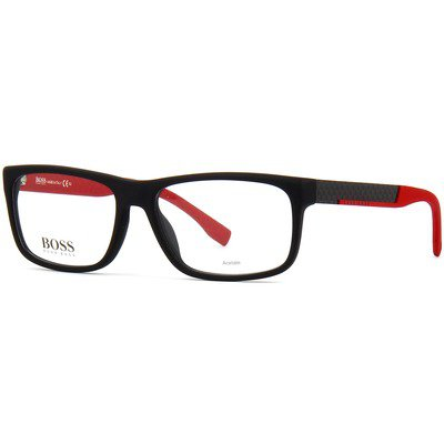 Hugo Boss BOSS 0643 HXA 56 - Matte Black/Red,BOSS by HUGO BOSS