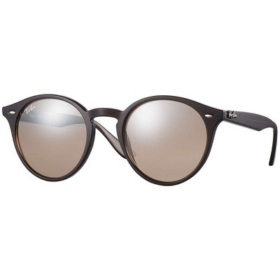 Ray-Ban RB2180 62313D 51 Round - Brown/Brown-Silver Mirror,Ray-Ban
