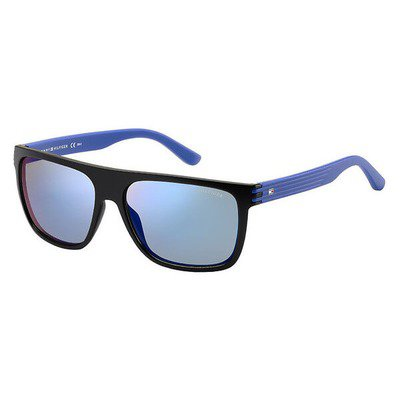 Tommy Hilfiger TH1277S FB1 23 57 - Matte Black Blue/Blue Mirror,TOMMY HILFIGER
