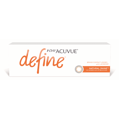 1-Day Acuvue Define Natural Shine (efeito realce forte),Acuvue Johnson e Johnson