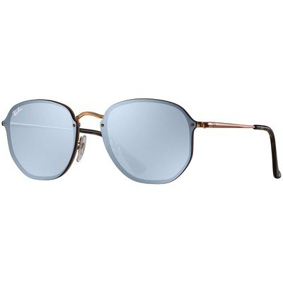 Ray-Ban Blaze Hexagonal RB3579N 90351U 58 - Bronze-Copper/Dark Violet-Silver Mirror,Ray-Ban