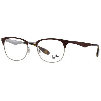 Ray-Ban RB6346 2912 52 Clubmaster - Marrom,Ray-Ban