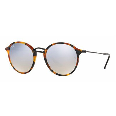 Ray-Ban RB2447 11579U 52 Round Fleck - Tortoise/Silver Gradient Flash,Ray-Ban