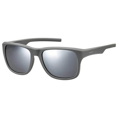Polaroid PLD3019S 31M JB 55 Contemporary - Gray/Silver Mirror Polarized,POLAROID