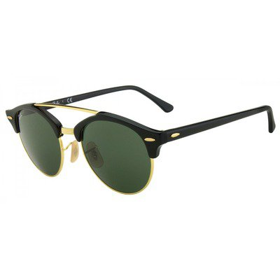 Ray-Ban RB4346 901 51 Clubround - Black/Gold,Ray-Ban