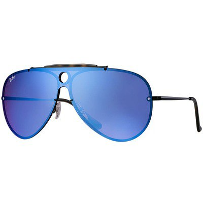 Ray-Ban Blaze Shooter RB3581N 153/7V 32 - Black/Dark Violet-Blue Mirror,Ray-Ban
