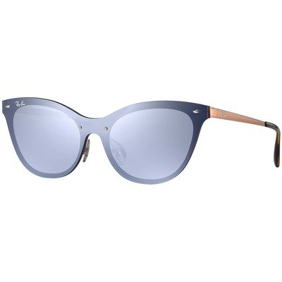 Ray-Ban Blaze Cat Eye RB3580N 90391U 43 - Bronze-Copper/Violet-Silver Mirror,Ray-Ban