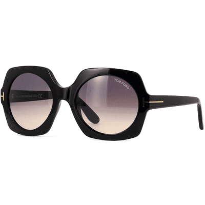 Tom Ford Sofia FT0535 01B 57 - Shiny Black/Grey Gradient,TOM FORD