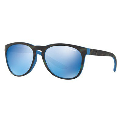 Arnette Go Time AN4227 239355 57 - Matte Green Havana On Blue/Blue Mirror,ARNETTE