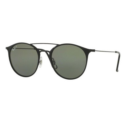 Ray-Ban RB3546 186/9A 52 Round - Matte Black/Green Polarized,Ray-Ban