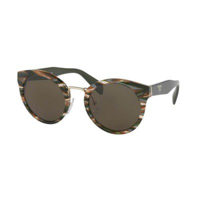 Prada PR05TS VAO4J1 53 - Sheaves Grey Brown/Dark Green,PRADA