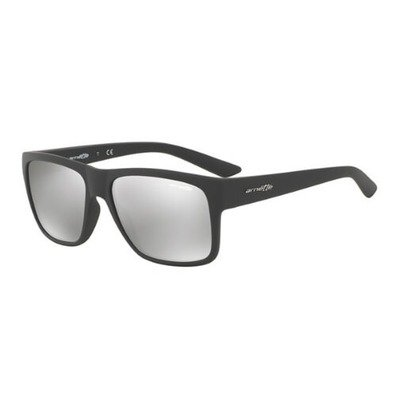Arnette Reserve AN4226 53816G 57 - Matte Dark Gray/Light Gray Silver Mirror,ARNETTE
