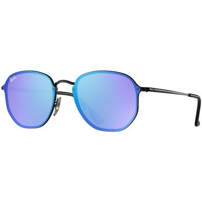 Ray-Ban Blaze Hexagonal RB3579N 153/7V 58 - Black/Dark Violet-Blue Mirror,Ray-Ban
