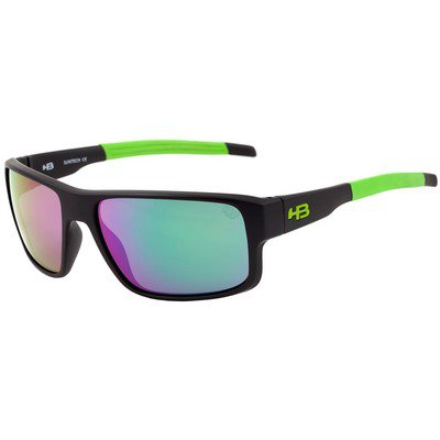 HB Epic 9013284891 - Matte Black/Green Chrome Lenses,HB
