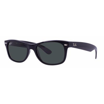 Ray-Ban RB2132 901/58 58 New Wayfarer - Black/Green Polarized,Ray-Ban