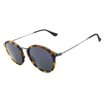 Ray-Ban RB2447 1158R5 49 Round Fleck - Spotted Blue Havana/Gray,Ray-Ban