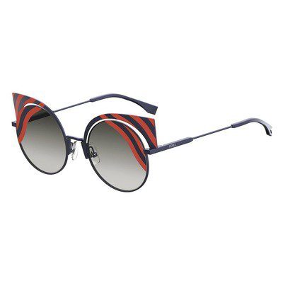 Fendi Hypnoshine FF0215/S 0M1 9L - Matte Dark Blue/Red,FENDI