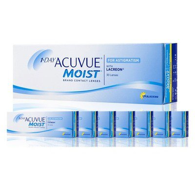 1-DAY ACUVUE MOIST P/ ASTIGMATISMO Combo 8 Caixas,Acuvue Johnson e Johnson