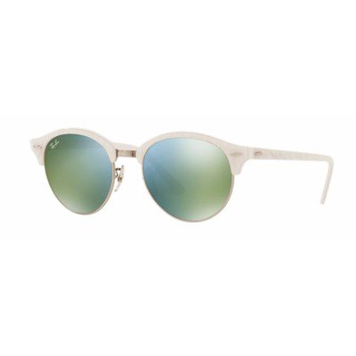 Ray-Ban RB4246 988/2X 51 Clubround - White/Green,Ray-Ban
