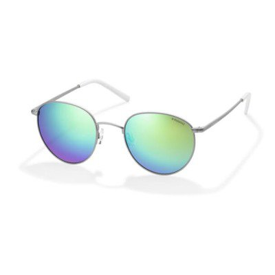 Polaroid PLD6010S 011 K7 51 Trendy - Silver/Green Mirror Polarized,POLAROID