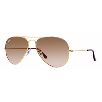 Ray-Ban RB3025L 001/51 58 Aviator - Gold/Brown Degradê,Ray-Ban