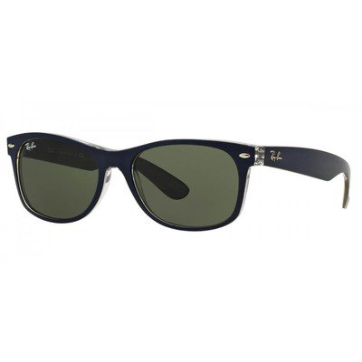 Ray-Ban RB2132 6188 55 New Wayfarer - Blue/Green G15,Ray-Ban