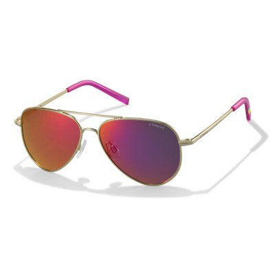 Polaroid PLD8015N J5G AI 52 Kids - Gold/Pink Mirror Polarized,POLAROID