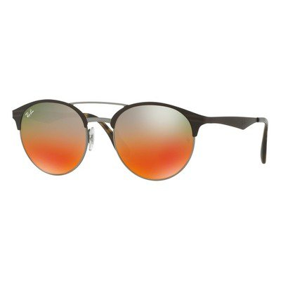 Ray-Ban RB3545 9006A8 54 Gunmetal - Matte Brown/Blue Red Flash Gradient,Ray-Ban