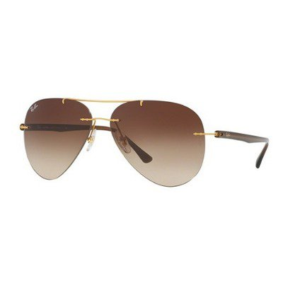 Ray-Ban RB8058 157/13 59 Aviator Tech - Brushed Gold/Brown Gradient,Ray-Ban