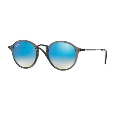 Ray-Ban RB2447N 62554O 49 Round - Transparent Grey/Blue Flash Gradient,Ray-Ban