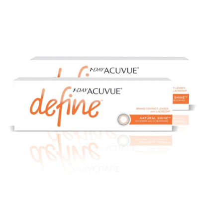 1-Day Acuvue combo 2 caixas Define Natural Shine (efeito realce forte),Acuvue Johnson e Johnson