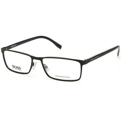 Hugo Boss BOSS 0767 QIL 55 - Matte Black,BOSS by HUGO BOSS