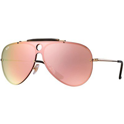 Ray-Ban Blaze Shooter RB3581N 001/E4 32 - Gold/Pink Mirror,Ray-Ban