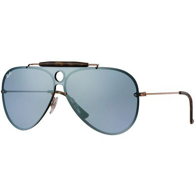 Ray-Ban Blaze Shooter RB3581N 90351U 32 - Bronze-Copper/Dark Violet-Silver Mirror,Ray-Ban