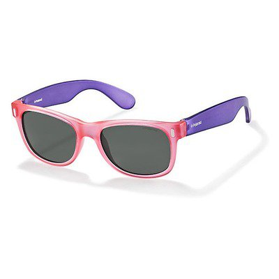 Polaroid P0115 IUB Y2 46 Kids - Violet Pink/Grey Polarized,POLAROID