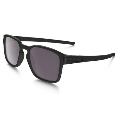 Oakley Latch Sq OO9353-02 5219 - Matte Black/Prizm Daily Polarized,OAKLEY