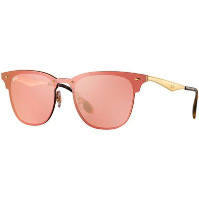 Ray-Ban Blaze Clubmaster RB3576N 043/E4 47 - Gold/Pink Mirror,Ray-Ban