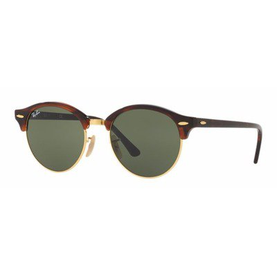 Ray-Ban RB4246 990 51 Clubround - Tortoise/Green G15,Ray-Ban