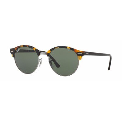 Ray-Ban RB4246 1157 51 Clubround - Black Tortoise/Green G15,Ray-Ban