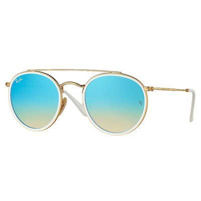 Ray-Ban RB3647N 001/4O 51 Round - Gold/Blue Gradient Flash,Ray-Ban